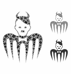 Hitler spectre devil composition icon raggy vector