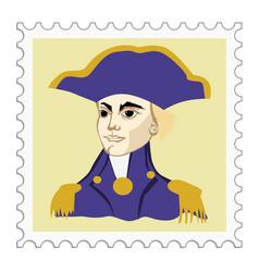 Horatio nelson british admiral vector