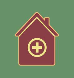 hospital sign cordovan icon vector image