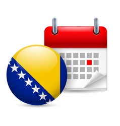 Icon of national day in bosnia and herzegovina vector image