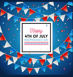 independence day happy fourth of july card vector image