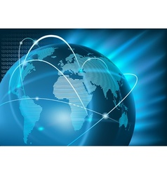 Internet Global Business vector image