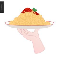 Italian restaurant set vector