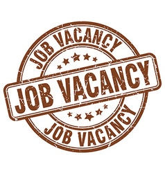 Job vacancy brown grunge round vintage rubber vector