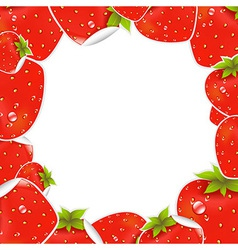 Label Strawberry Frame vector image