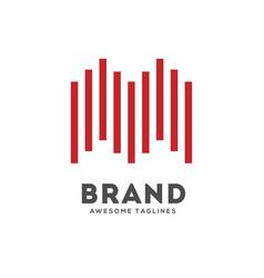 Letter m lines logo template design logo vector