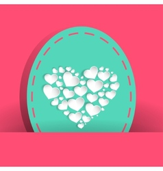 many pretty white heart for valentines day vector image