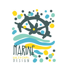 marine original logo design summer travel and vector image