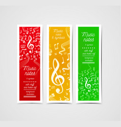 Musical staves with music vector
