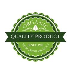 Organic label for farm fresh products vector image