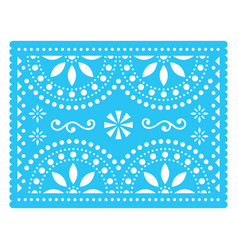 Papel picado design mexican decorations vector