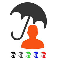 Patient care umbrella flat icon vector