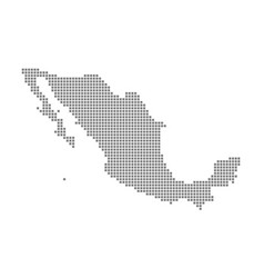 pixel map of mexico dotted map of mexico isolated vector image