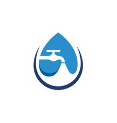 plumbing logo icon design vector image