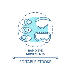 Rapid eyes movement turquoise concept icon vector