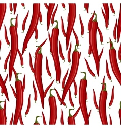 Red hot chili pepper seamless pattern vector image