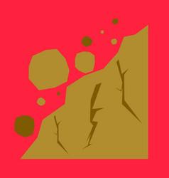 Rockfall icon flat of rockfall icon for web vector