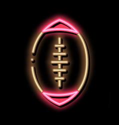 Rugball neon glow icon vector