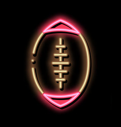 rugby ball neon glow icon vector image