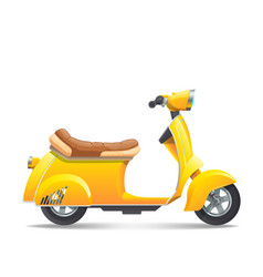 scooter-yellow vector image