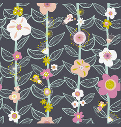 seamless kids pattern fairy and flowers vector image