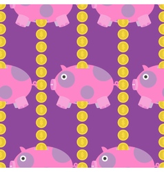 Seamless-Pig-and-Money-pattern vector
