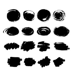 Set of hand drawn scribble line shapes set of vector