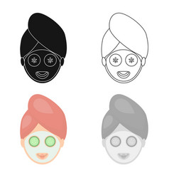 spa mask icon of for web and vector image