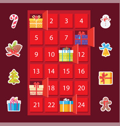 strongbox with presents set vector image