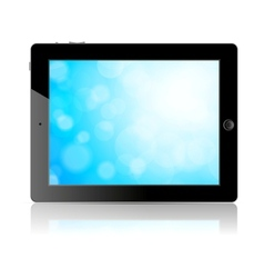 Tablet pc with blue screen vector image