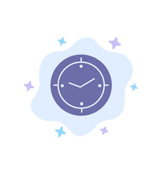 Time timer compass machine blue icon on abstract vector