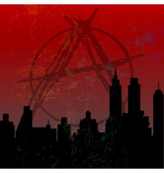 town of anarchy vector image