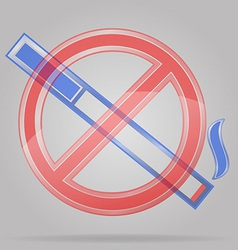 Transparent sign no smoking vector