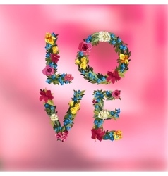 Vilentines day greeting card on blurred background vector image