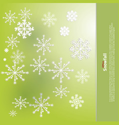 Winter background design of white snowflake with vector