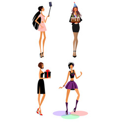 women in different situations vector image