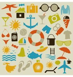 Beach an icon vector image vector image