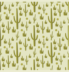 cactus green seamless pattern vector image