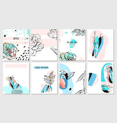 hand drawn abstract creative spring unusual vector image
