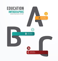 Infographic Education Font Template Design vector image vector image