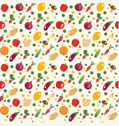 vegetables background in flat style healthy food vector image vector image