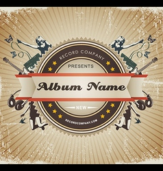Vintage music sign vector image vector image