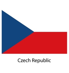 Flag of the country czech republic vector image vector image