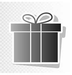 gift box sign new year blackish icon on vector image vector image