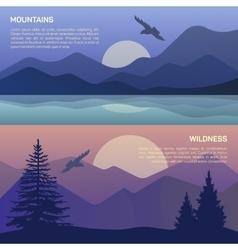 landscape in north areas vector image vector image