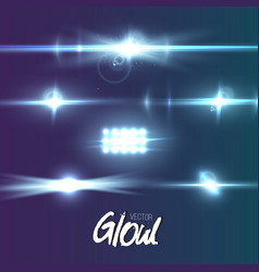 lens flare effect glow flare ray effect vector image