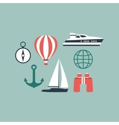 simple universal travel set to use for web vector image