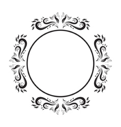 Vintage Ornate circle Frame frame vector image