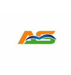 aq logo vector image vector image
