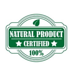 Guarantee label certifying a Natural Product vector image vector image